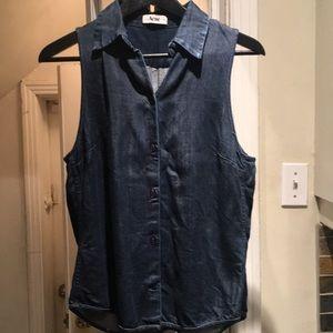 "Acne ""She Denim SS12"" sleeveless shirt size 38"
